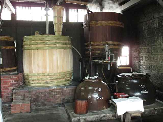 白金酒造 木樽蒸留器